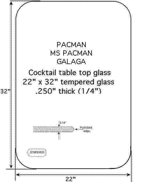 TOP GLASS 22 x 32 clear